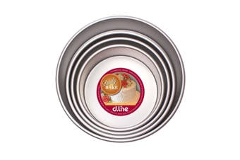 """Daily Bake Cake Pan Set Round Anodised Mold Mould Bread Tray Bakeware 4"""" 5"""" 6"""" 7"""