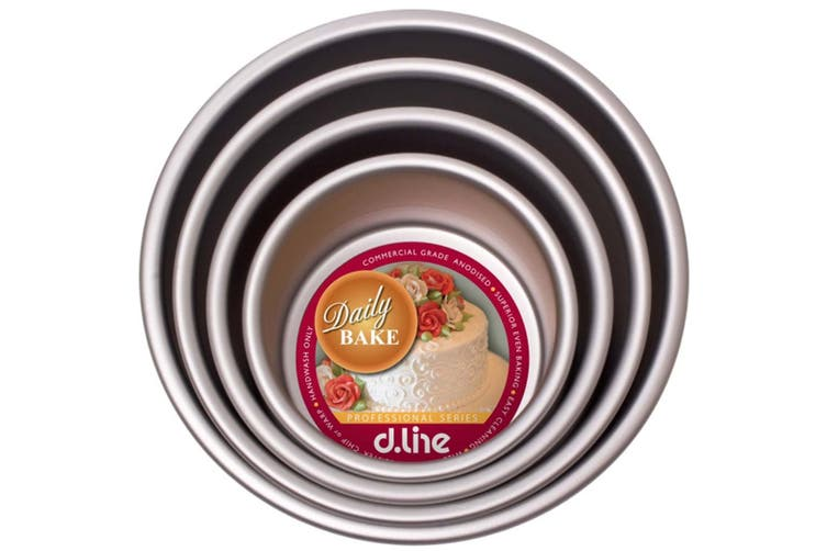 """Daily Bake Cake Pan Round 6""""Anodised Mold Mould Bread Tray 15 x 7.5cm Bakeware"""