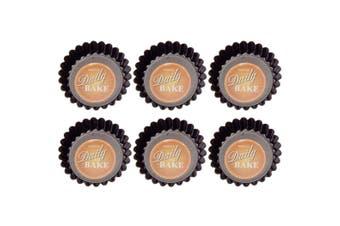 Daily Bake 6pc Mini Quiche Pan Tart Tray Mold Mould Loose Base 7.5x2cm Bakeware