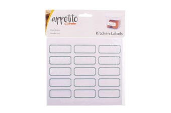 Appetito Blank Kitchen Labels Pack of 45 Canister Jar Food Storage Stickers