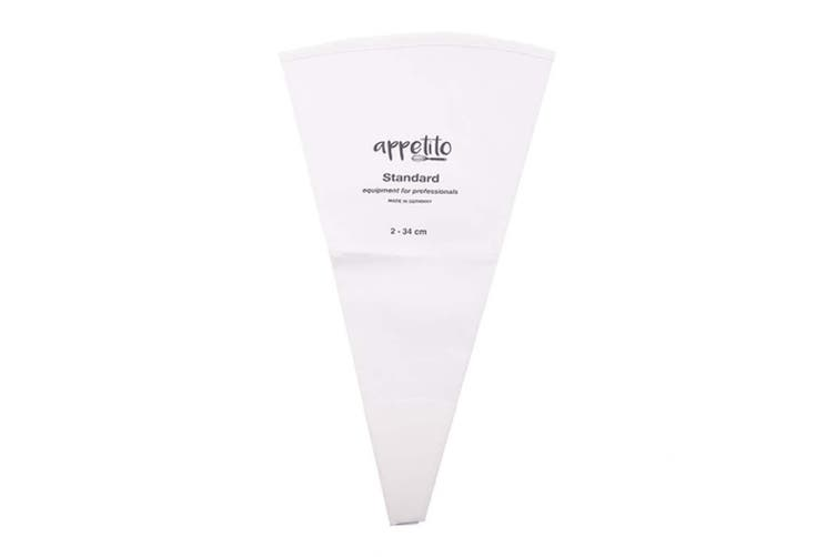 Appetito Standard Piping Bag Cotton/PVC Reusable 34cm Cake Decorating White
