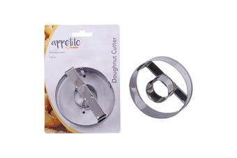 New Appetito Doughnut Biscuit Cookie Cutter Stainless Steel 7.5cm Pastry Donut