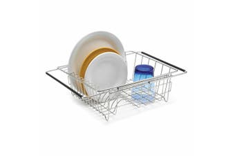 Polder Stainess Steel Expandable In-Sink Dish Rack 35 x 30 x 12.7cm