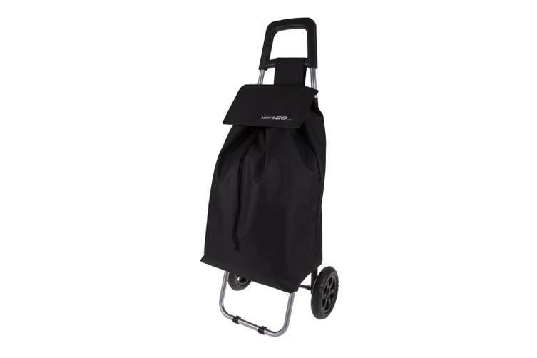 Shop & Go Clio Shopping Trolley Cart Foldable Basket Carry Wheels Black