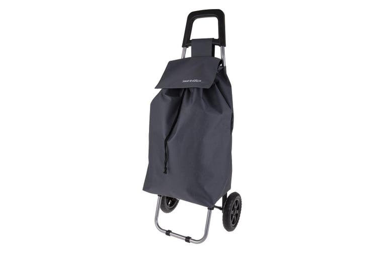 Shop & Go Clio Shopping Trolley Cart Foldable Basket Carry Wheels Charcoal Grey