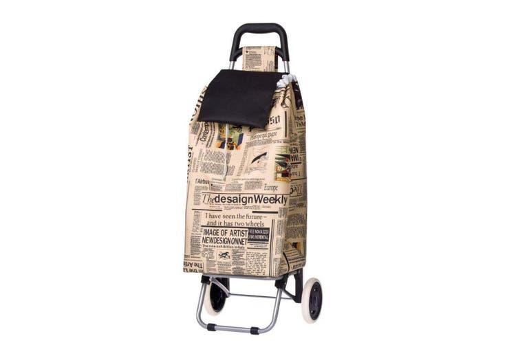 Shop & Go Sprint Shopping Trolley Cart Foldable Basket Carry Wheels Newspaper