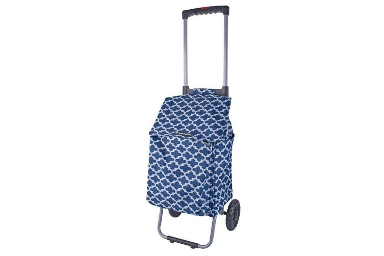 Shop & Go Polo Shopping Trolley Cart Retractable Handle Moroccan Navy