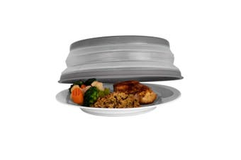 Tovolo Microwave Collapsible Food Cover Lid Plate Bowl Dish Splatter Charcoal