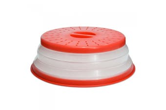 Tovolo Microwave Collapsible Food Cover Lid Plate Bowl Dish Splatter Red