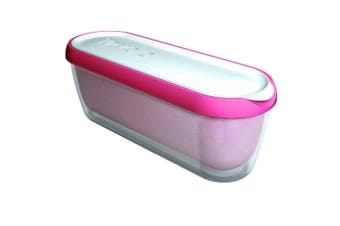 Tovolo Glide-A-Scoop Ice Cream Tub Plastic Container Storage 1.4L Pink