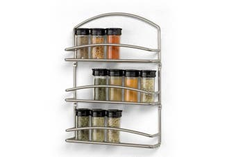 Spectrum Euro 3 Tier Spice Rack Stainless Steel Spice Rack Capacity Storage