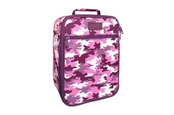 Sachi Insulated Lunch Box Tote Thermal Cooler Bag Picnic Case Camo Pink