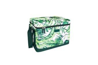 Sachi Cooler Cube Insulated Cooler Food Storage Picnic Travel Work Jungle Leaf