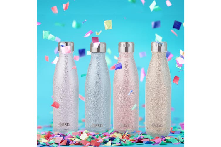 S/S Insulated Drink Bottle 500ml Silver Beverage Flasks Double Wall Thermal