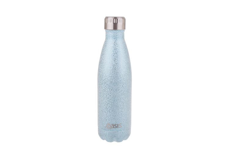 Oasis 500ml Stainless Steel Double Wall Insulated Drink Bottle Arctic Blue