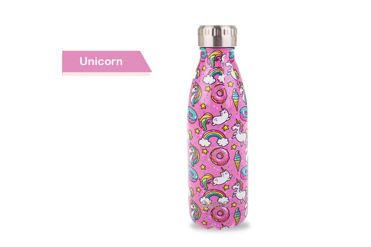 Oasis Drink Bottle Beverage Flasks Double Wall Insulated Thermal 500ml - Unicorn