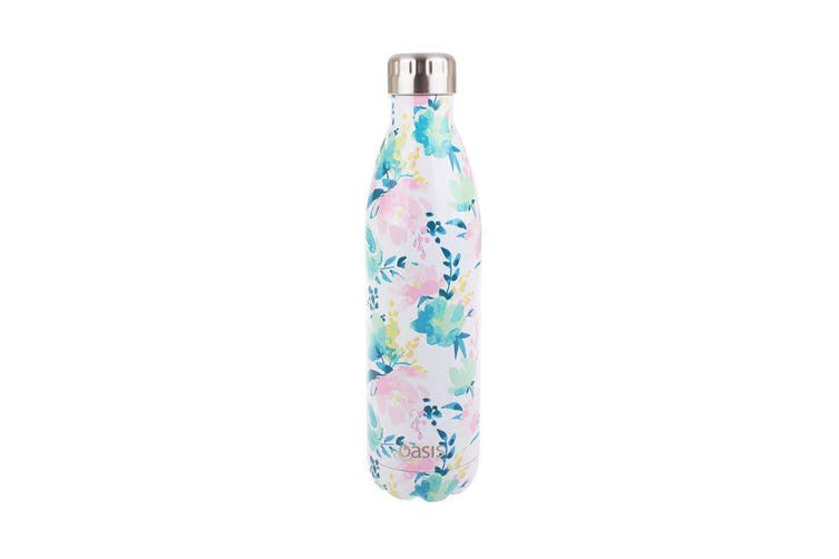 Oasis Stainless Steel Double Wall Insulated Drink Bottle 750ml Floral Lust