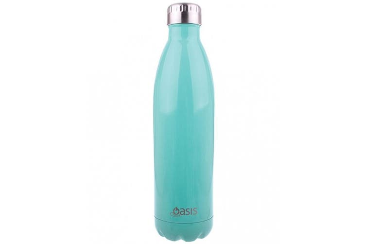 Oasis 1L Stainless Steel Double Wall Insulated Drink Bottle Spearmint 1 Litre