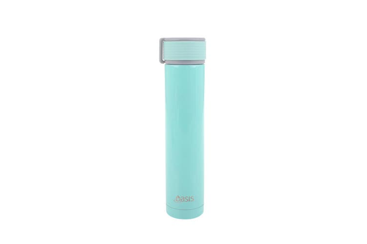 Skinny Mini Stainless Steel Double Wall Insulated Drink Bottle 250ml Green