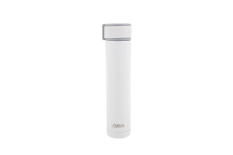 Skinny Mini Stainless Steel Double Wall Insulated Drink Bottle 250ml White