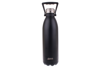 Oasis 1.5L Stainless Steel Double Wall Drink Bottle w/ Handle Matt Black