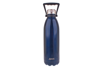 Oasis 1.5L Stainless Steel Double Wall Drink Bottle w/ Handle Navy