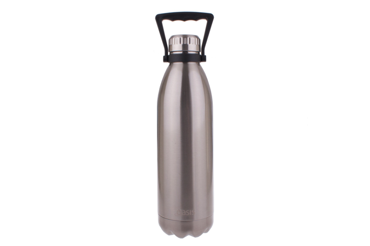 Oasis 1.5L Stainless Steel Double Wall Drink Bottle w/ Handle Silver