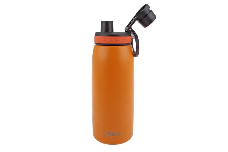 Oasis 780ml Stainless Steel Double Wall Insulated Sports Bottle Screw Cap Burnt Orange