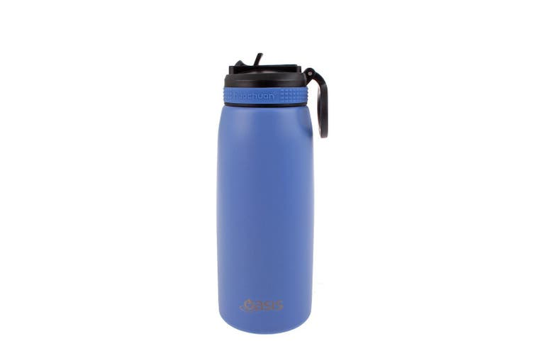 Oasis 780ml Stainless Steel Double Wall Insulated Drink Bottle w/ Straw Lilac