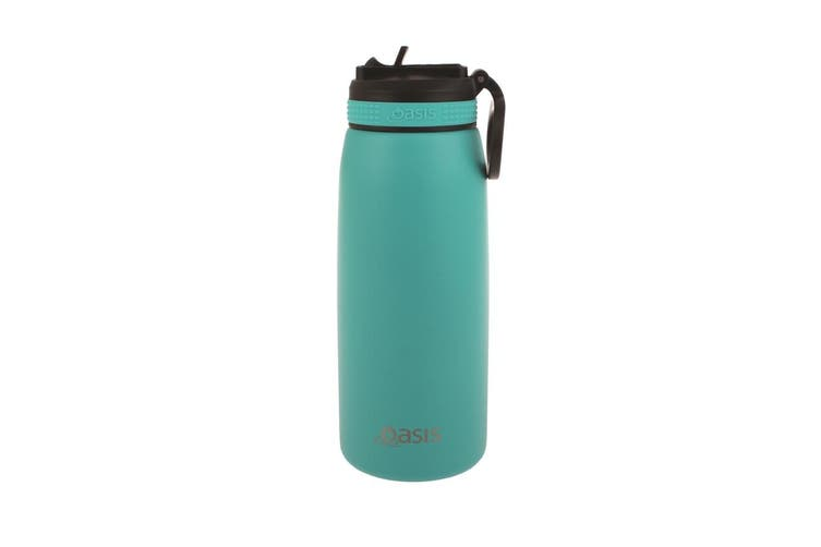 Oasis 780ml Stainless Steel Double Wall Insulated Drink Bottle Straw Turquoise