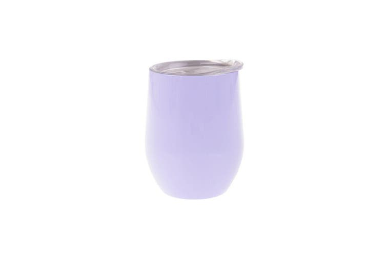 Oasis 330ml Stainless Steel Double Wall Wine Tumbler Water Coffee Mug Cup Lilac