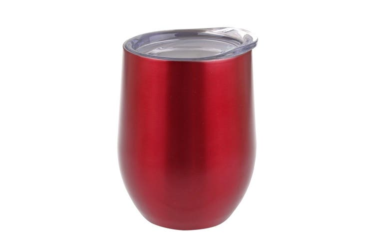 Oasis 330ml Double Wall Wine Tumbler Stainless Steel Ruby