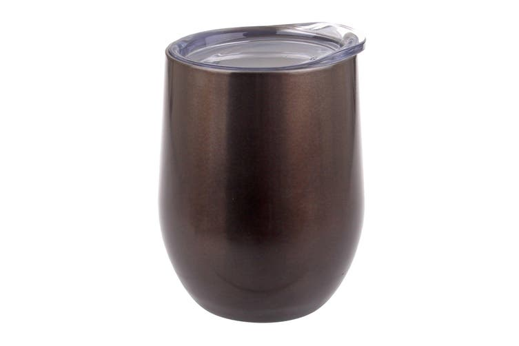 Oasis 330ml Double Wall Wine Tumbler Stainless Steel Smoke
