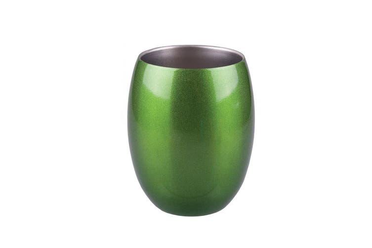 Oasis 350ml Double Wall Wine Tumbler Mug Emerald Green