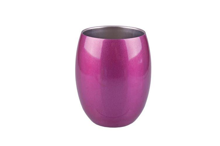 Oasis 350ml Double Wall Wine Tumbler Mug Sapphire Pink