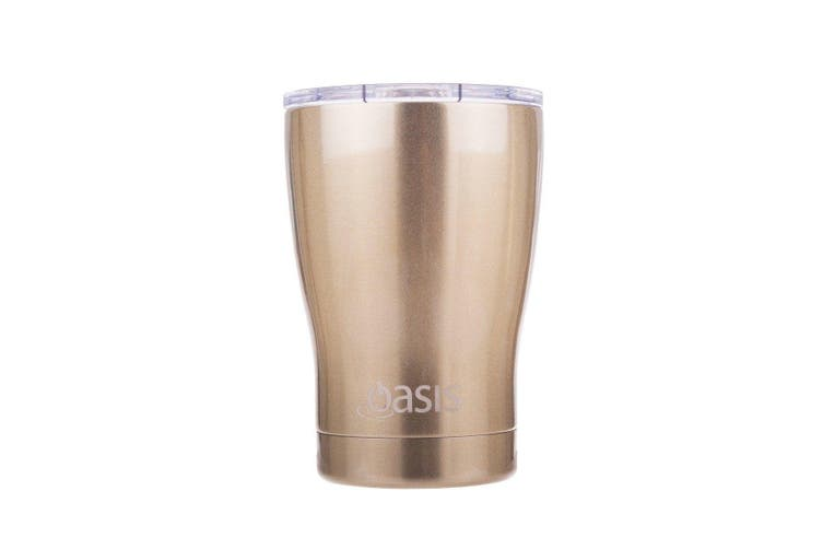 Oasis 350ml Double Wall Insulated Coffee Travel Cup Champagne