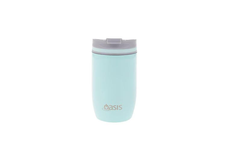 New Oasis 300ml Stainless Steel Double Wall Insulated Travel Drink Cup Spearmint