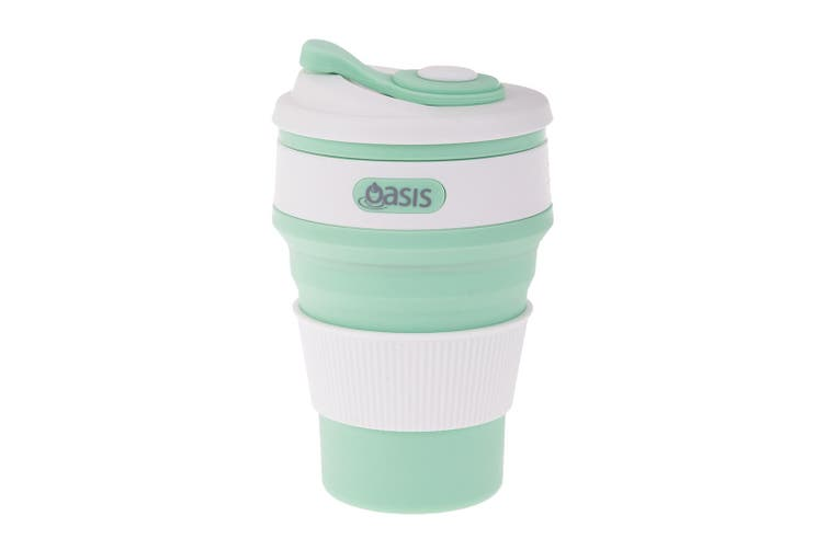 Oasis 12oz 350ml Collapsible Coffee Cup Silicone Mug Foldable Food Grade