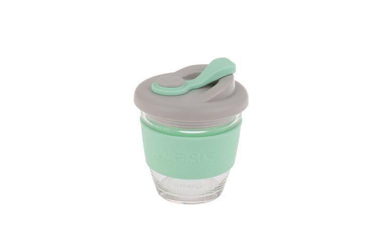 Oasis Borosilicate Glass Eco Cup Green 8oz 227ml