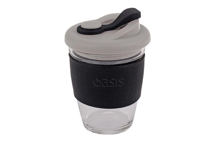 Oasis Borosilicate Glass Eco Cup Black 12oz 340ml