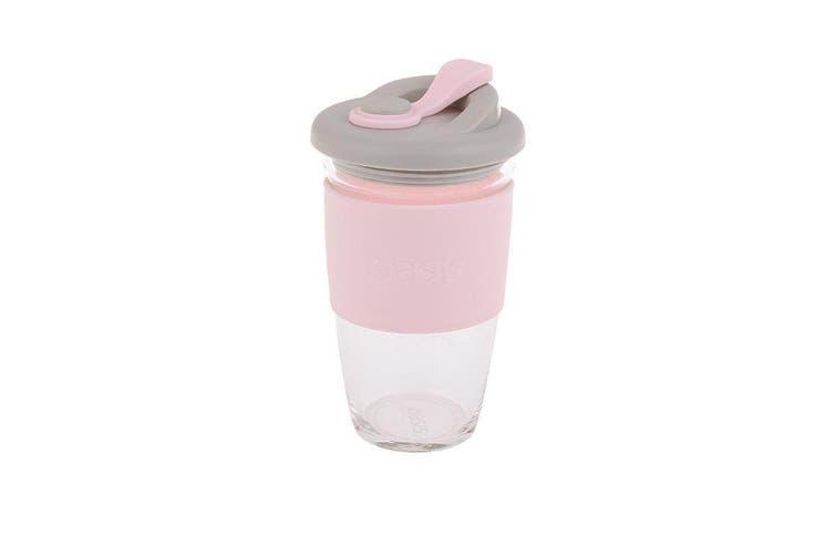 Oasis Borosilicate Glass Eco Cup Pink 16oz 454ml