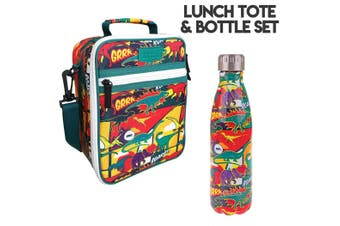 Dinosaurs Lunch Bag and Oasis Bottle Set