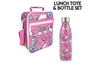 Unicorns Lunch Bag and Oasis Bottle Set
