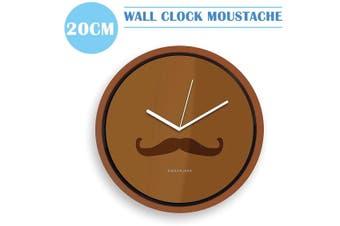 Kikkerland  Mustache  Wall Clock Unique Design 20CM