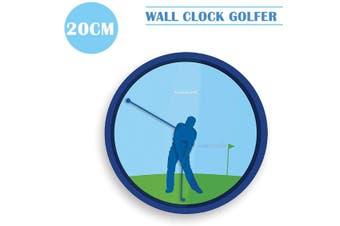 Kikkerland  Wall Clock Golfer Unique Design Funny Rotating Swing 20CM Novelty