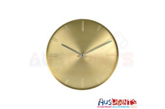 Karlsson Belt Wall Clock 40cm  Metal Brass
