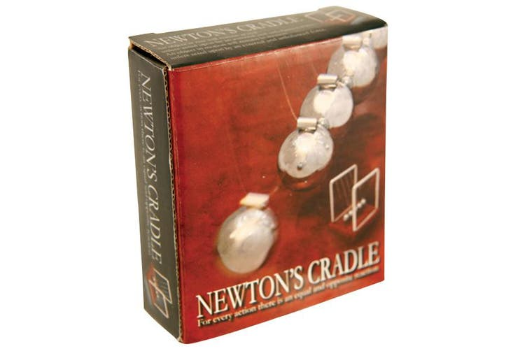 Newton's Cradle with Marble Wood Base Science Motion Office Desk Toy Fun Decor