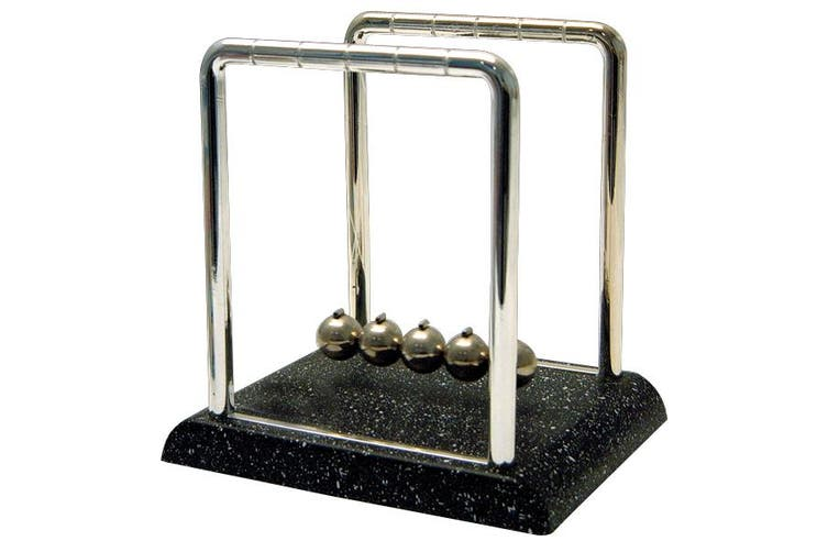 Newton's Cradle with Marble Look Base Science Motion Office Desk Toy Fun Decor