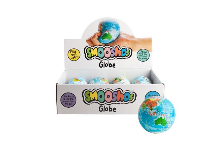 Smoosho's Relaxable Squeeze Ball Toys Globe Stress Relief