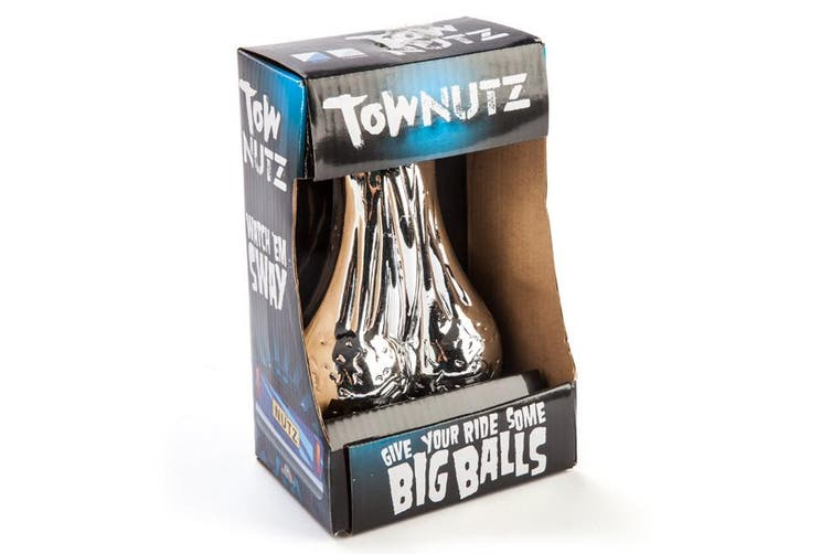 Chrome Tow Nutz - Novelty Nuts Balls Sack for Car Truck Trailer Tow Bar